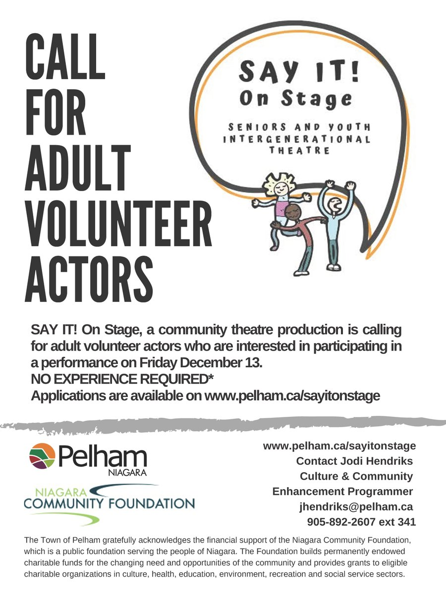 call for actors poster