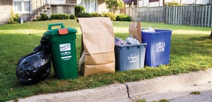 waste bins curtsied