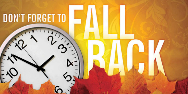 fall back clock and leaves