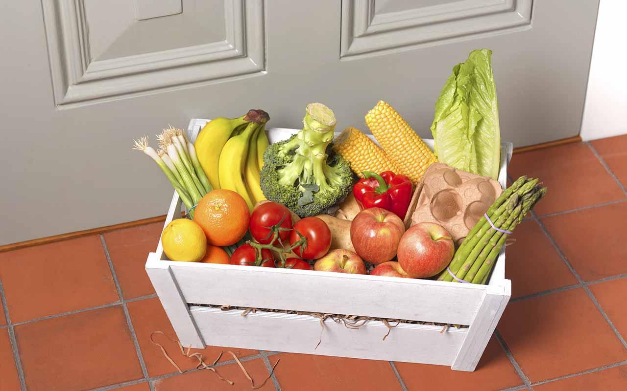 groceries on doorstep