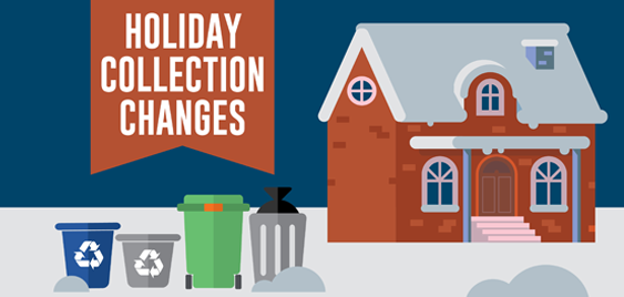 waste and recycling in front of house graphic
