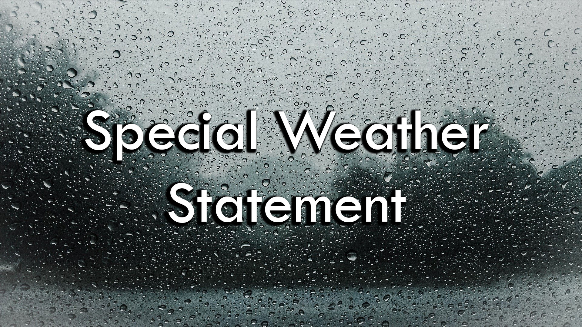 special weather statement text