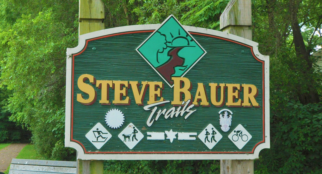 steve bauer trail sign