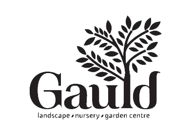 gauld landscape logo, name with tree growing out of it