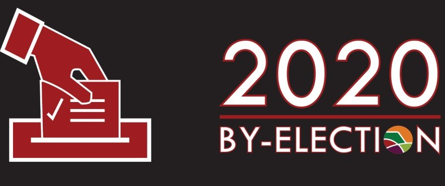 by election logo black white and red